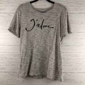 Old Navy Heather Gray J'Adore Short Sleeve Tee